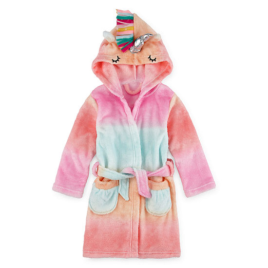Okie Dokie Girls Fleece Long Sleeve Knee Length Robe