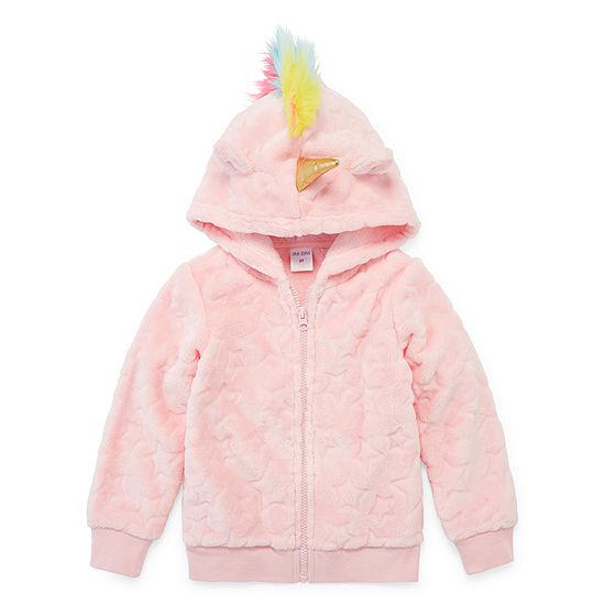 Okie Dokie Sherpa Girls Hoodie-Toddler
