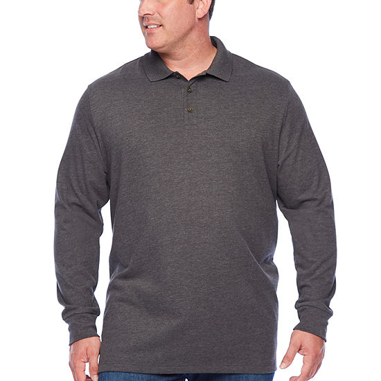 The Foundry Big & Tall Supply Co. Big and Tall Mens Long Sleeve Polo Shirt