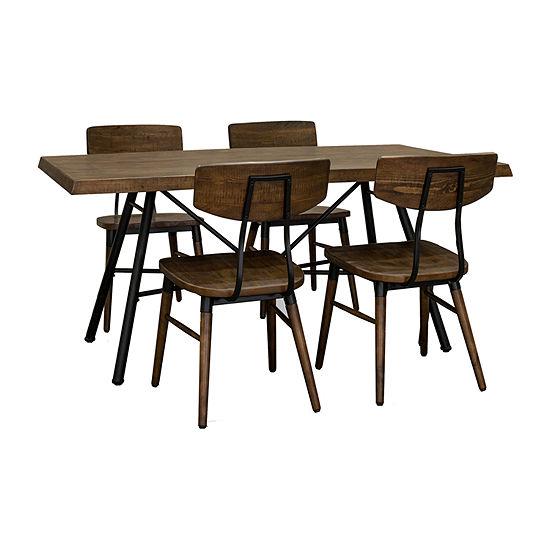 Flatiron Dining Rectangular Wood-Top Dining Table