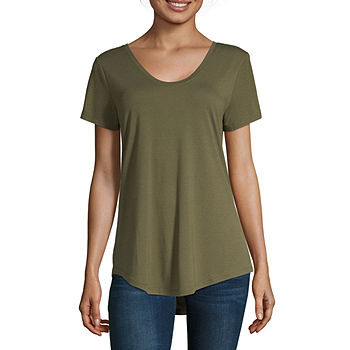 Branded Women/'s Short Sleeve Scoop Neckline Polyester Blouse Top Colour Choice