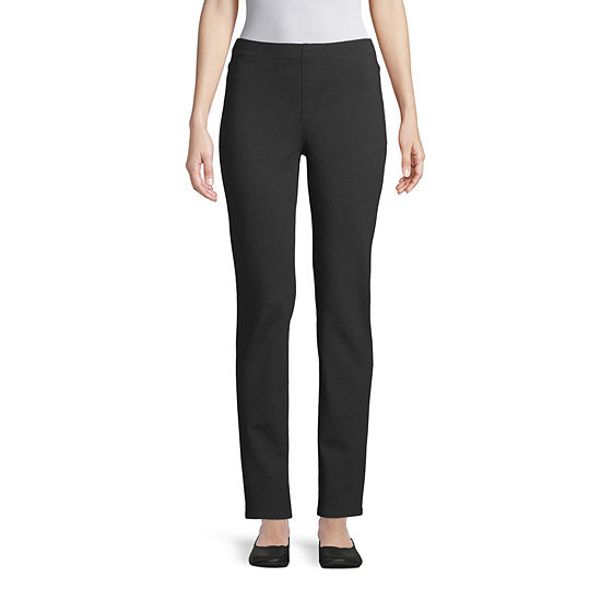 St. John's Bay Womens Straight Leg Ponte Pant