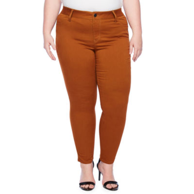 a.n.a Womens Mid Rise Skinny Stretch Jeggings - Plus