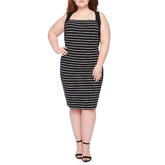 Bold Elements Sleeveless Bodycon Dress-Plus