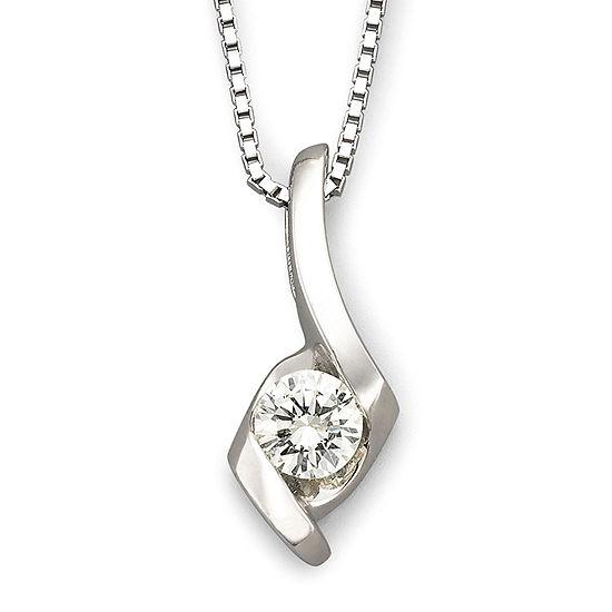 Sirena® 1/5 CT. Diamond Solitaire Pendant 14K White Gold Necklace