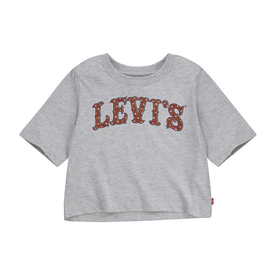 Levi's Girls Crew Neck Crop Top