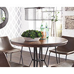 Signature Design by Ashley Collins Round Wood-Top Dining Table
