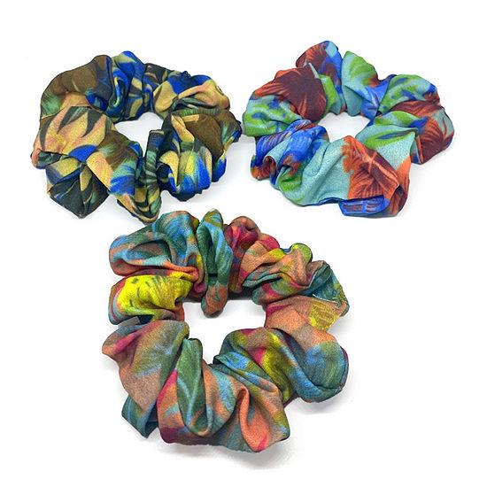 Mixit Printed Scrunchie 3-pc. Hair Ties