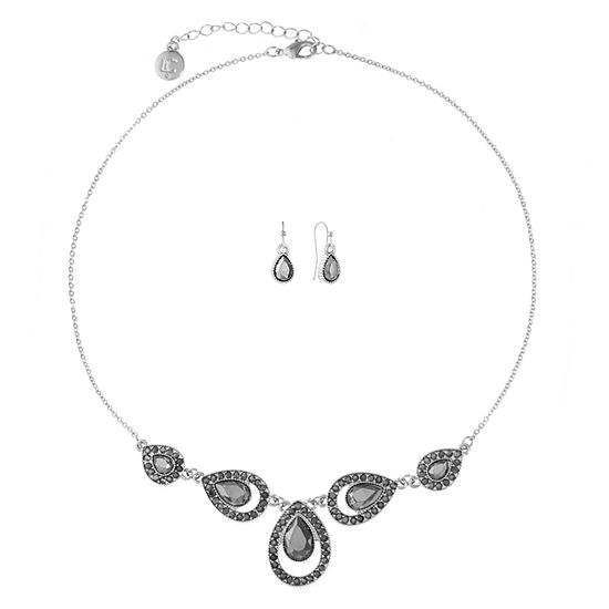 Liz Claiborne 2-pc. Gray Pear Jewelry Set