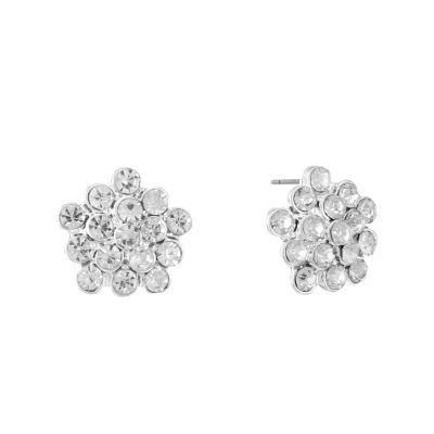 Liz Claiborne Clear 14mm Stud Earrings