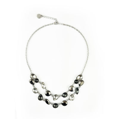 Liz Claiborne Womens Clear Collar Necklace