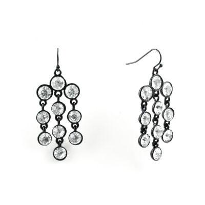 Liz Claiborne Clear Chandelier Earrings