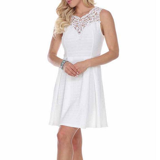White Mark Taja Fit & Flare Dress