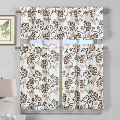 Duck River Rivietta 3-pc. Kitchen Curtain Set