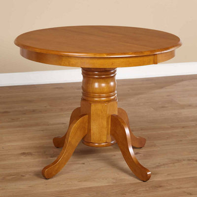 Farmhouse Wood-Top Dining Table