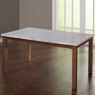 Edina Wood-Top Dining Table