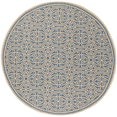 Safavieh Linden Collection Barnes Geometric Round Area Rug