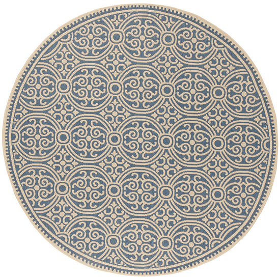 Safavieh Linden Collection Barnes Geometric Round Area Rug