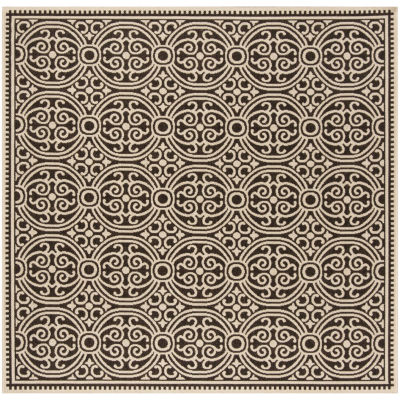 Safavieh Linden Collection Barnes Geometric Square Area Rug