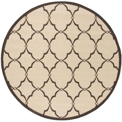 Safavieh Linden Collection Dina Geometric Round Area Rug