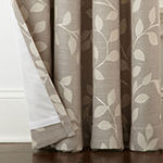 Liz Claiborne Quinn Leaf Room-Darkening Grommet Top Single Curtain Panel