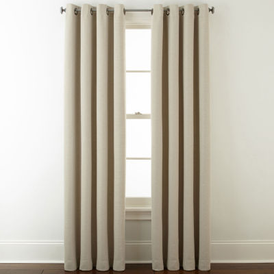 JCPenney Home Wallace Blackout Grommet Top Single Curtain Panel