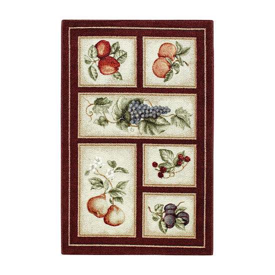 Fresh Fruit Washable Rectangular Accent Rug