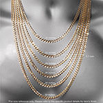 "10K Gold 18-22"" 3mm Rope Chain Necklace"