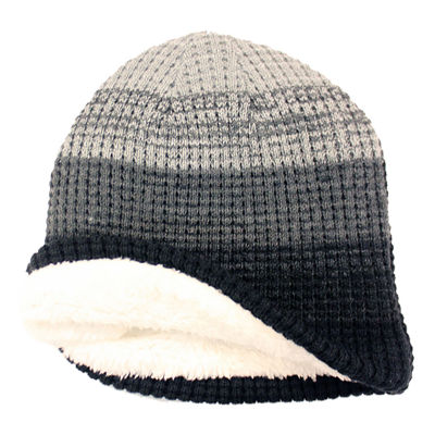 JF J.Ferrar® Check Knit Striped Beanie