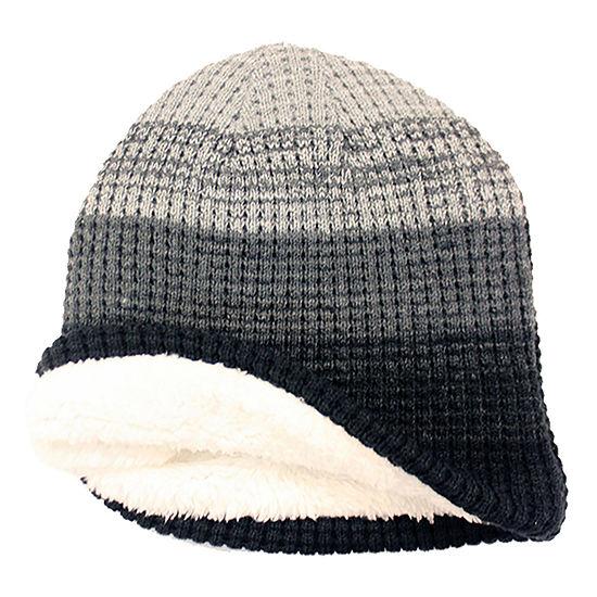 JF J.Ferrar® Check Knit Striped Beanie