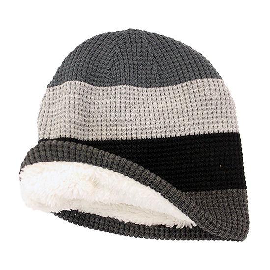 JF J.Ferrar® Waffle Knit Striped Beanie