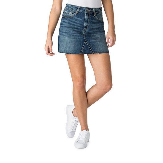 Denizen Hr Mini Skirt Womens High Waisted Short Denim Skirt-Juniors