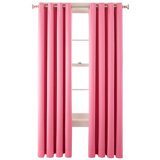 Liz Claiborne Energy Saving Light-Filtering Grommet-Top Single Curtain Panel