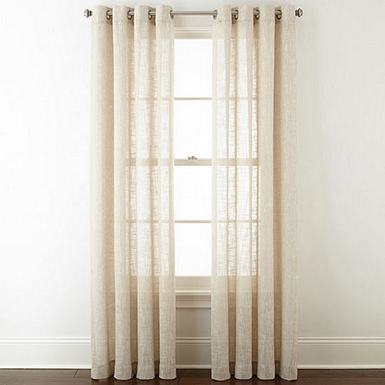 Jcpenney Home Sydney Grommet Top Curtain Panel