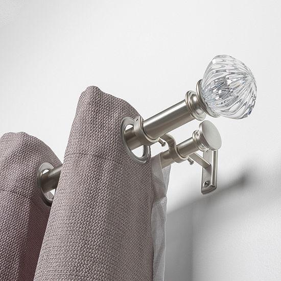 Liz Claiborne Caroline Acrylic Double Curtain Rod