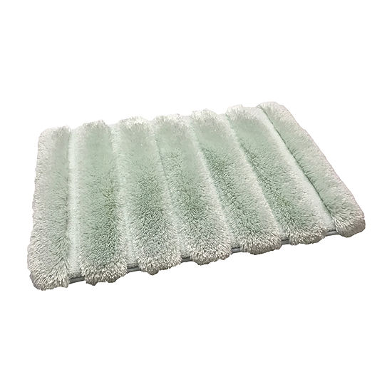 Ribbed Pearl Plush Bath Rug
