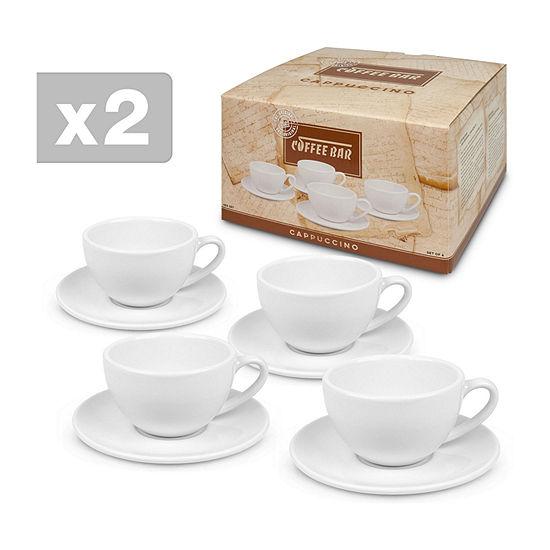 Waechterbach Set Of 2 4-pc. Cappuccino Mug