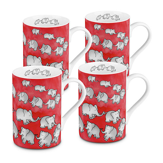 Waechterbach Elephants 4-pc. Coffee Mug