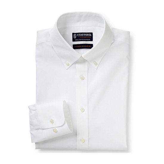 0c451daffdd4d Stafford® Executive Non-Iron Cotton Pinpoint Oxford Shirt