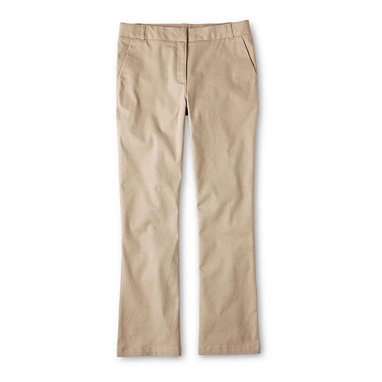 IZOD Girls Bootcut Flat Front Pant