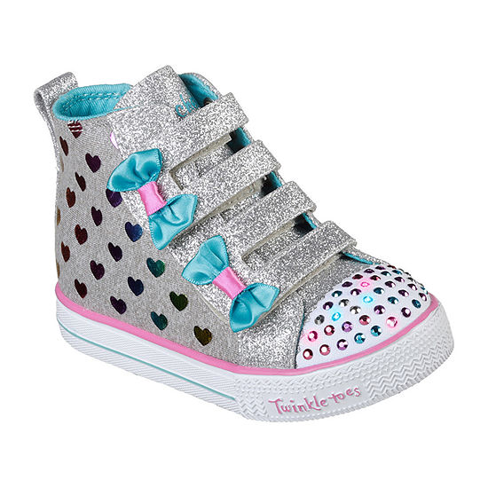 Skechers Shuffle Lite Hook and Loop Sneakers Toddler Girls