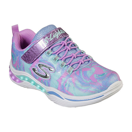 Skechers Power Petals Little Kids Girls Hook and Loop Sneakers