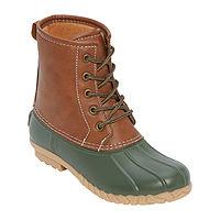 St. John's Bay Womens Rollands Rain Boots with Flat Heel