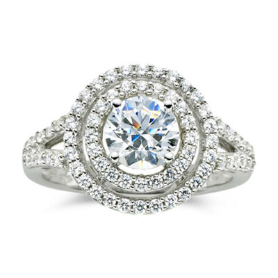 Fine Jewelry DiamonArt 1 CT. T.W. Cubic Zirconia Double Halo Ring zWLbr2LyR2