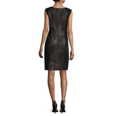 Worthington® Sleeveless Foiled-Panel Sheath Dress