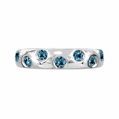 Genuine Blue Topaz Sterling Silver Ring