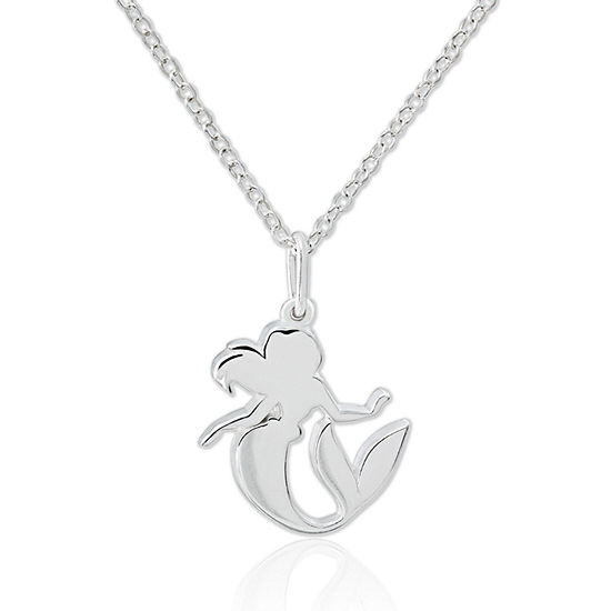 Disney Ariel Sterling Silver Pendant Necklace