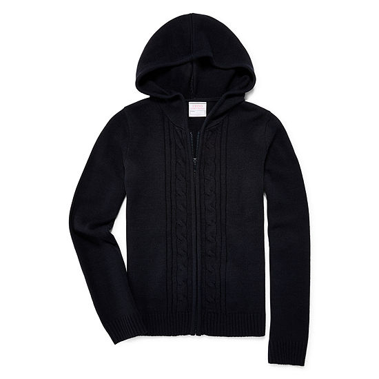IZOD® Exclusive Long-Sleeve Zip Hooded Sweater - Girls 4-18 and Plus