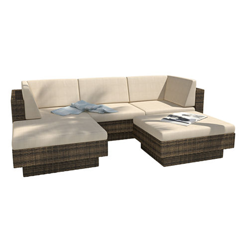 Park Terrace 5-pc. Double Armrest Sectional Patio Set