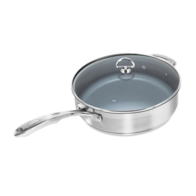 Chantal® Induction 21 Steel™ 5-qt. Saute Skillet with Ceramic Coating and Glass Lid